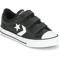 'Converse  Star Player Ev 3v  Leather Ox  Boys's Children's Shoes (trainers) In Black. Sizes Available:2 Kid,2.5 Kid