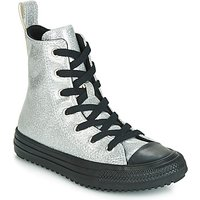 Converse  CHUCK TAYLOR ALL STAR BOOT COATED GLITTER  HI  girls's Children's Shoes (High-top Trainers) in Silver