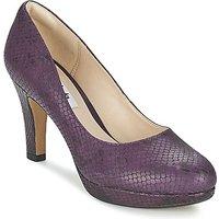 Clarks Crisp Kendra Court Shoes In Purple