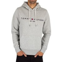 Tommy Hilfiger  Logo Pullover Hoodie  men's Sweatshirt in Grey