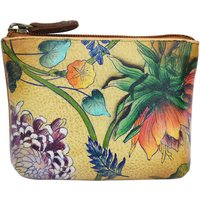Anuschka  1031 Caribbean Garden -Hand Painted Leather  womens Purse in Multicolour