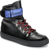 John Galliano  8526  mens Shoes (High-top Trainers) in Black