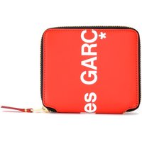Comme Des Garcons  Wallet Huge Logo in red leather  womens Purse wallet in Red