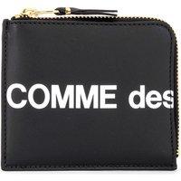 Comme Des Garcons  Comme Des Garçons Huge Wallet Logo wallet in black leather  womens Purse wallet in Black