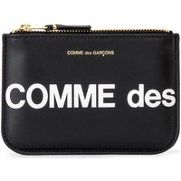 Comme Des Garcons  Comme Des Garçons Sachet Wallet Huge Logo in black leather  womens Purse in Black