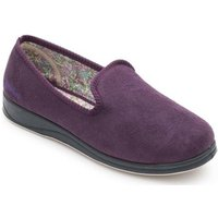 Padders Repose Womens Fully Lined Slippers Slippers In Purple