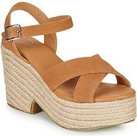 Superdry  HIGH ESPADRILLE SANDAL  women's Sandals in Brown