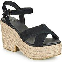 Superdry  HIGH ESPADRILLE SANDAL  women's Sandals in Black
