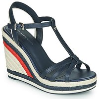 Tommy Hilfiger  TOMMY STRAPPY HIGH WEDGE  women's Sandals in Blue