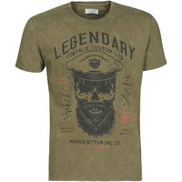 Yurban  MCOOL  men's T shirt in Kaki