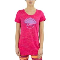 Reebok Sport  RH Burnout Tshirt  women's T shirt in Pink