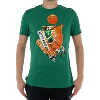 'Reebok Sport  Classic Basketball Pump 1 Tshirt  Men's T Shirt In Green. Sizes Available:uk S