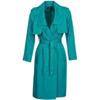 One Step  DAWY  womens Trench Coat in Blue