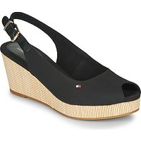 Tommy Hilfiger  ICONIC ELBA SLING BACK WEDGE  women's Sandals in Black