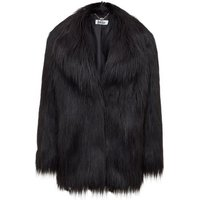 Anastasia  Black Heather Luxe Faux Mongolian Faux Fur Jacket  womens Coat in Black