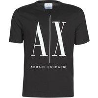 Armani Exchange  HULO  men's T shirt in Black