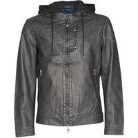 Guess  VINTAGE ECO-LEATHER JKT  men's Leather jacket in Black