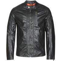 Guess  QUILTED ECO LEATHER JACKET  men's Leather jacket in Black