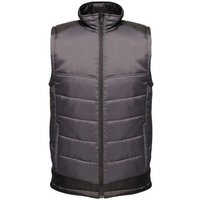 Professional  Contrast Insulated Body Warmer Grey  mens Jacket in Grey