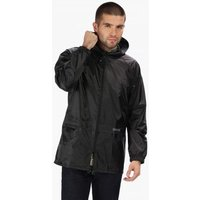 Regatta  Stormbreak Lightweight Waterproof Hooded Jacket Black  mens Coat in Black