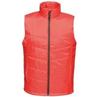 Professional  STAGE II Insulated Bodywarmer Seal Grey Red  mens Coat in Red