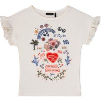 Ikks  DORELLA  girls's Children's T shirt in White