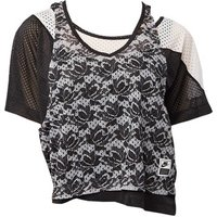Nike  Lab Lace Layered Tshirt  womens Blouse in multicolour