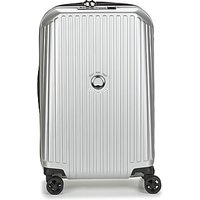Delsey  SECURITME ZIP 55 CM 4 DOUBLE WHEELS TROLLEY  womens Hard Suitcase in Silver