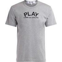 Comme Des Garcons  T-Shirt in gray cotton with logo  mens T shirt in Grey