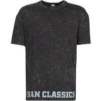 Urban Classics  TOBI  men's T shirt in Black