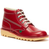 Kickers  Kick Hi Mens Red Leather Boots  men's Mid Boots in Red