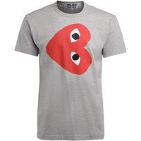Comme Des Garcons  t-shirt in gray cotton with horizontal  mens T shirt in Grey