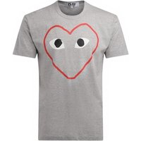 Comme Des Garcons  Comme Des Garçons T-Shirt PLAY made of gray cotton with an  mens T shirt in Grey