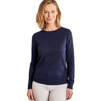 Woolovers  Cashmere and Cotton Crew Neck Jumper  women's Sweater in Blue