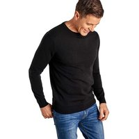 Woolovers  Cashmere and Merino Crew Neck Jumper  men's Sweater in Black