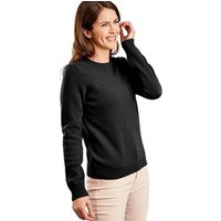 Woolovers  Lambswool Crew Neck Jumper  womens Sweater in Black