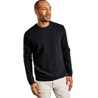 Woolovers  Lambswool Crew Neck Jumper  mens Sweater in Black