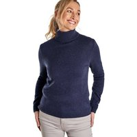 Woolovers  Lambswool Polo Jumper  womens Sweater in Blue