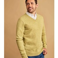 Woolovers-Lambswool-V-Neck-Knitted-Sweater-mens-Sweater-in-Green