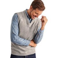 Woolovers  Lambswool Knitted Slipover  mens Sweater in Grey