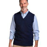 Woolovers-Lambswool-Knitted-Slipover-mens-Sweater-in-Blue