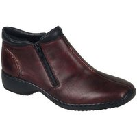 Rieker  Drizzle Womens Casual Ankle Boots  women's Low Ankle Boots in Red