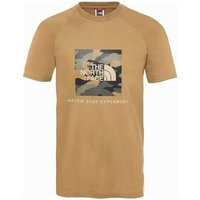 The North Face  Raglan Red Box Tee  mens T shirt in Brown