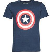 Yurban  CAPTAIN AMERICA LOGO  men's T shirt in Blue