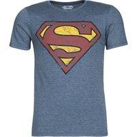 Yurban  SUPERMAN LOGO VINTAGE  men's T shirt in Blue
