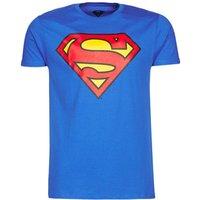 Yurban  SUPERMAN LOGO CLASSIC  men's T shirt in Blue