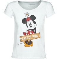 Yurban  MINNIE PERFECT GIRL  women's T shirt in White