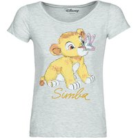Yurban  THE LION KING  women's T shirt in Grey