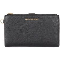 MICHAEL Michael Kors  wristlet in black grained leather  women's Purse wallet in Black