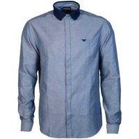 Armani  6G1C711N78Z_f938navy  men's Long sleeved Shirt in Blue